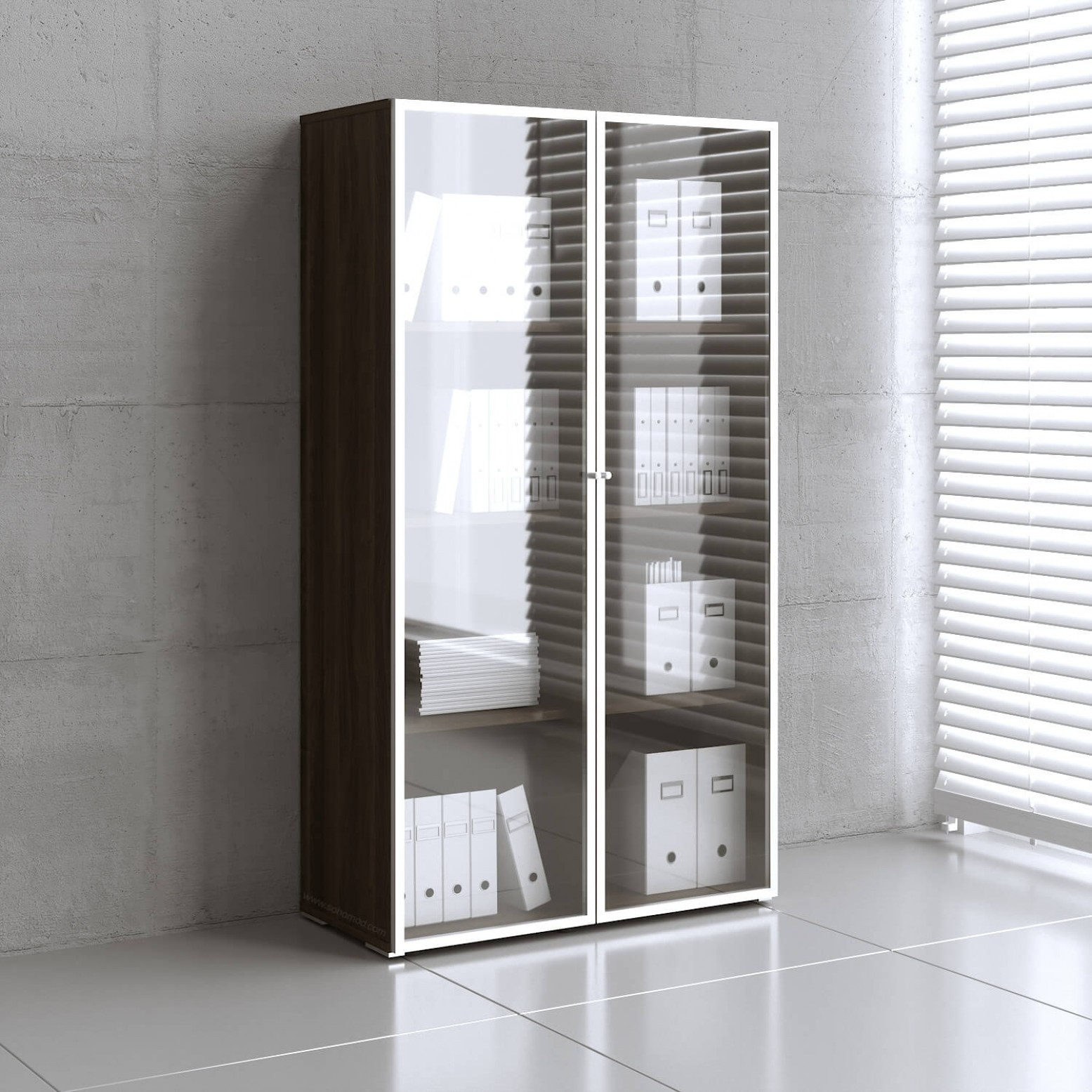 Mito Tall Storage Cabinet W 2 Doors By Mdd Office Furniture Sohomod Com