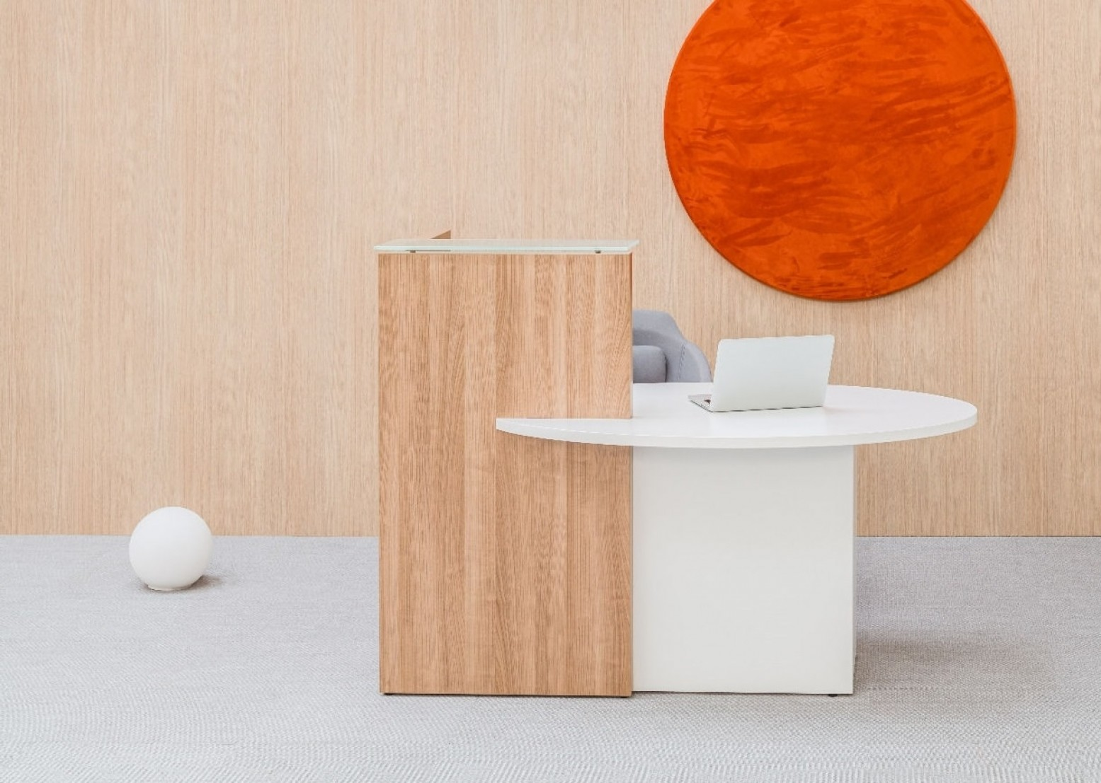 Ovo Reception Desk Right Handed Counter Ada Compilance By Mdd Office Furniture Sohomod Com