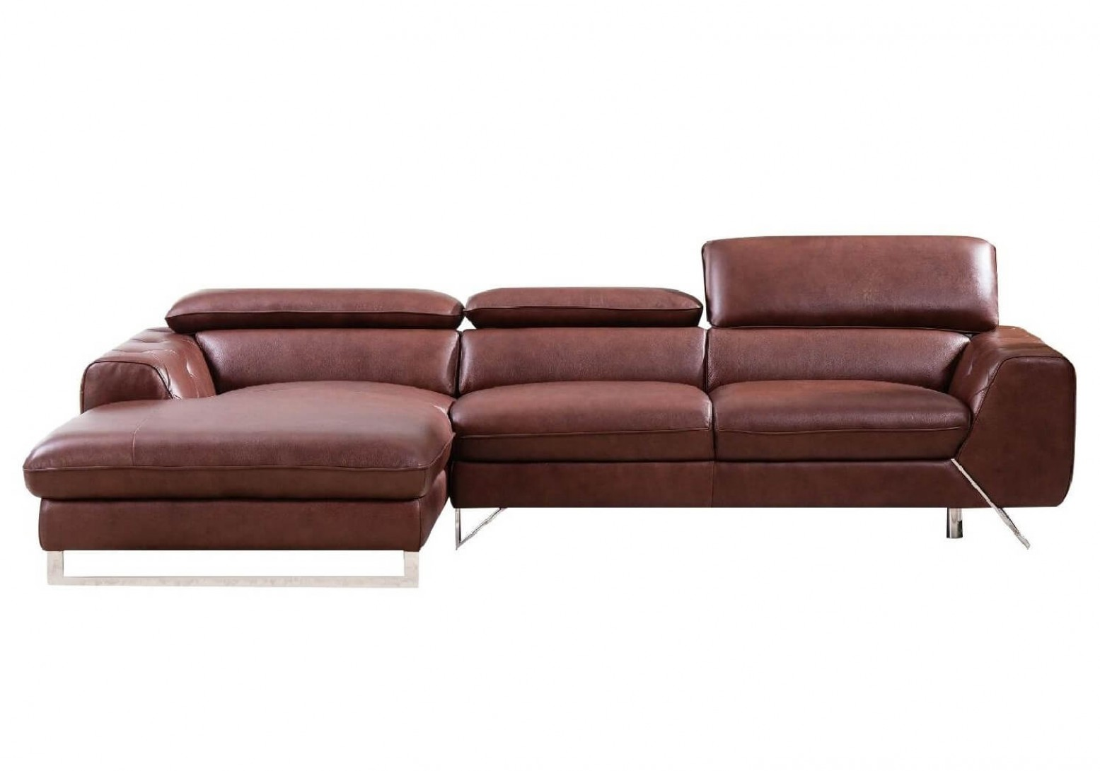 S98 Sectional Sofa, Left Arm Chaise Facing, Brown by ...