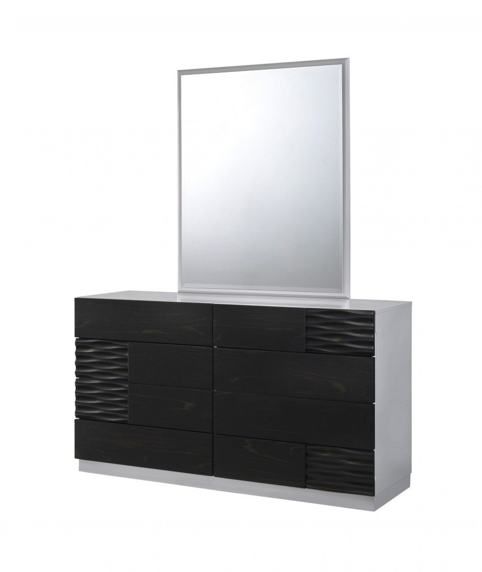 Tribeca Premium Glossy Dresser with Mirror