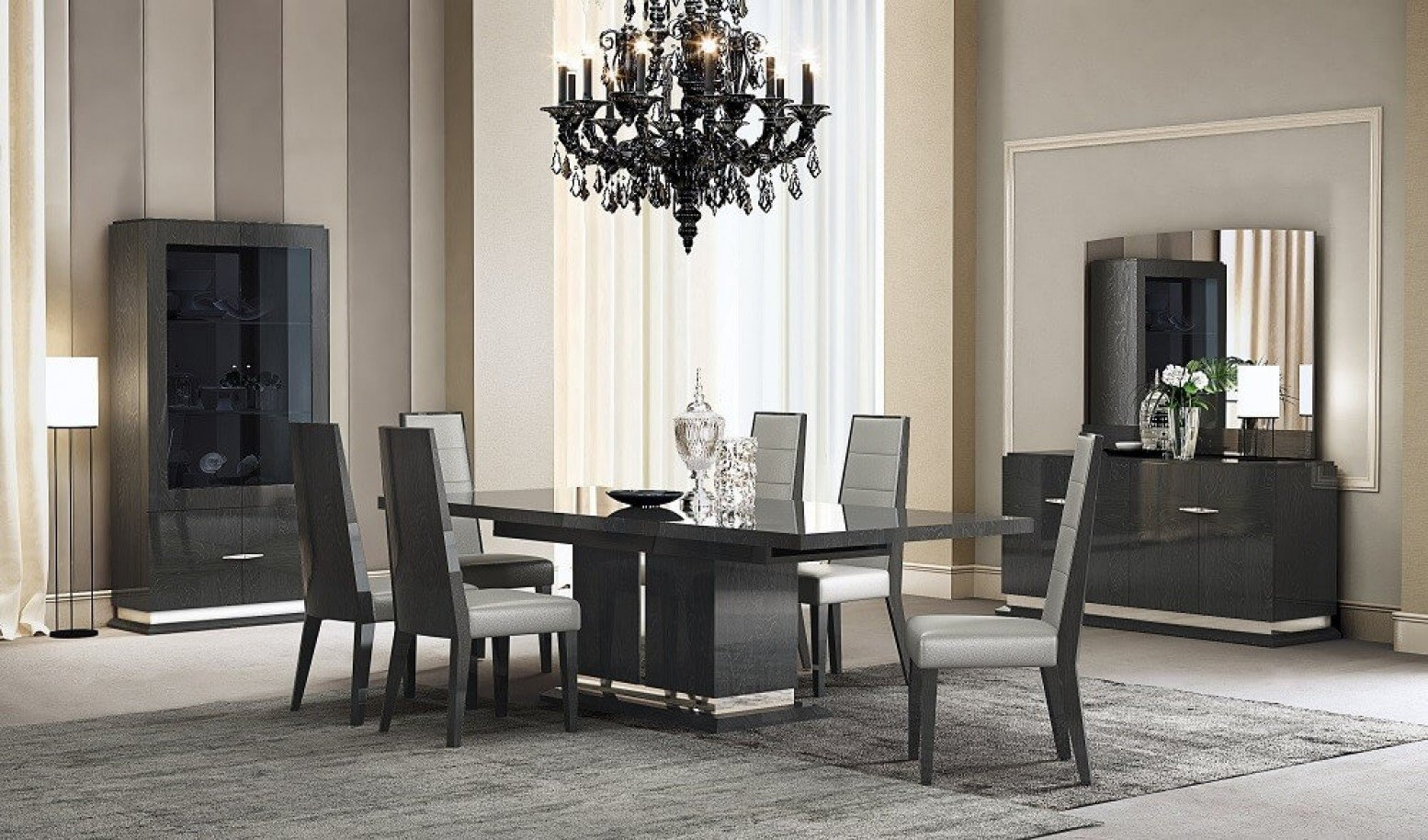 Valentina Modern Dining Room Set With, Dining Room Sets With Extendable Tables