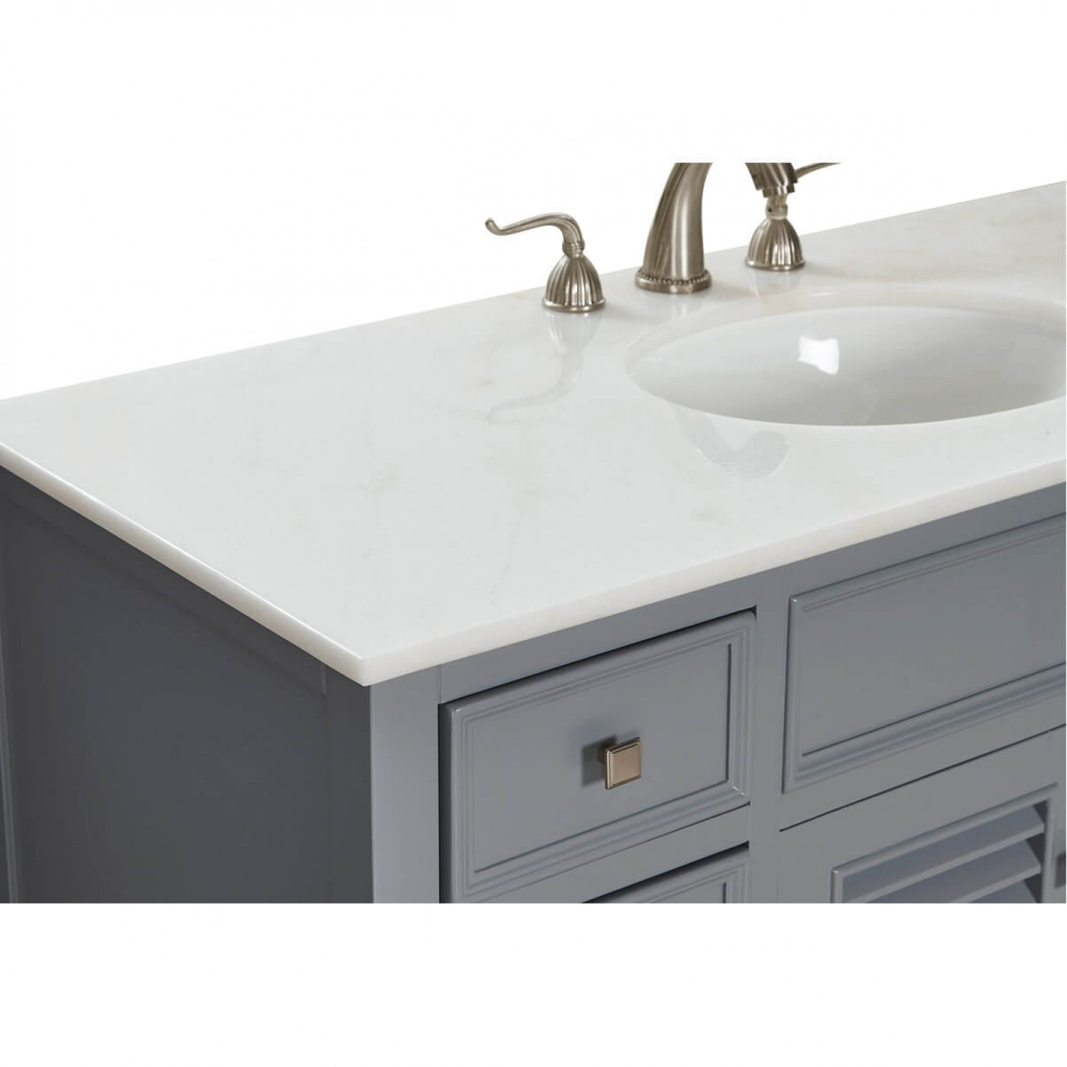 CAPE COD 48 Single Bathroom Vanity Set, Grey by Elegant ...