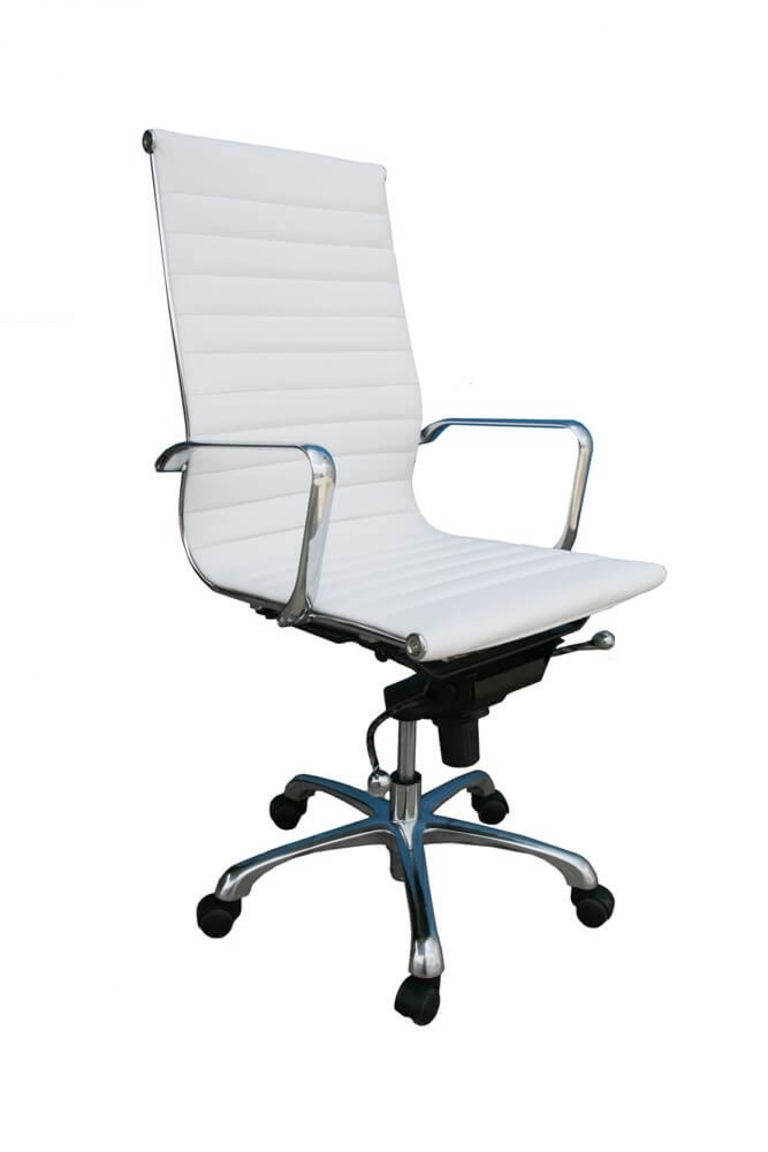 Comfy High Back Adjustable Leather Swivel Office Chair