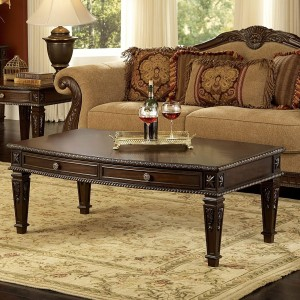 Palace Wood Coffee Table by Homelegance