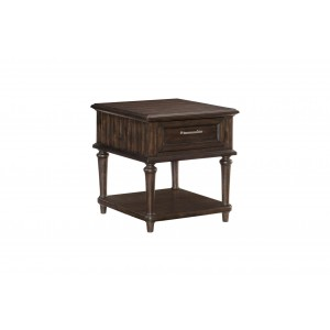 Cardano Wood End Table by Homelegance