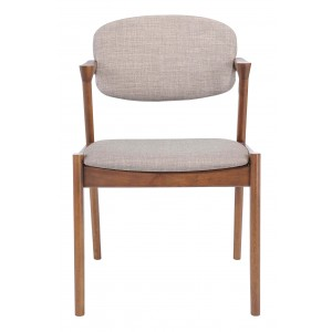 Brickell Dining Chair, Gray by Zuo Modern
