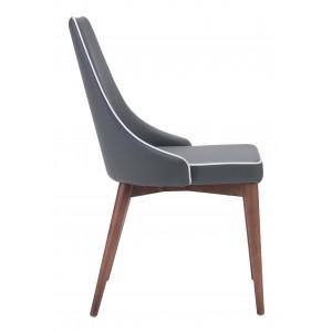 Moor Dining Chair, Dark Gray by Zuo Modern