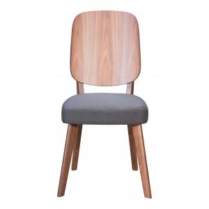 Alberta Dining Chair, Walnut & Dark Gray by Zuo Modern