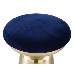 Juniper Side Stool, Blue & Gold by Zuo Modern