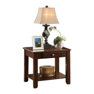 Ballwin Wood Veneer End Table by Homelegance