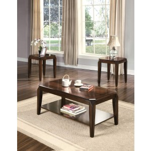 Docila Occasional Table Set (Coffee Table + 2 End Tables) by ACME