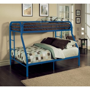 Tritan Full/Twin Size Bunk Bed, Blue by ACME