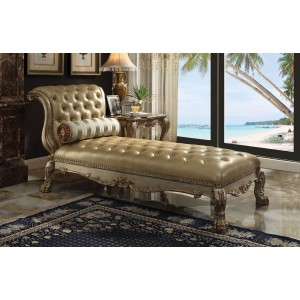 Dresden Chaise, Gold Patina by Acme Furniture