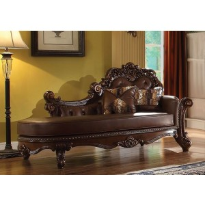 Vendome Chaise, Cherry by ACME