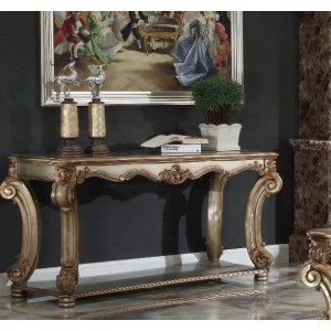 Vendome Console Table, Gold Patina by ACME