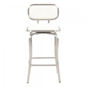 1192 Modern Swivel Counter Stool, White by Chintaly Imports