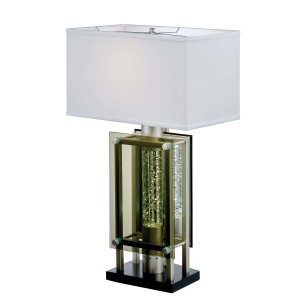 Aura Metal/FabricTable Lamp by Homelegance