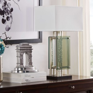 Aura Metal/FabricTable Lamp by Homelegance