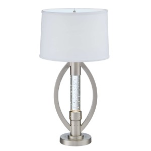 Lucian Metal/Fabric Table Lamp by Homelegance