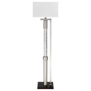 Noura Metal/Fabric Floor Lamp by Homelegance