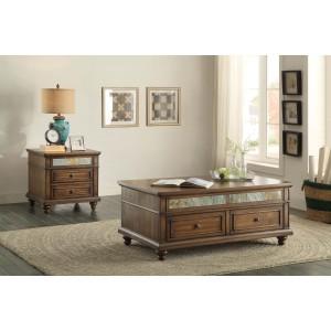 Chehalis Wood Veneer Occasional Table Set by Homelegance