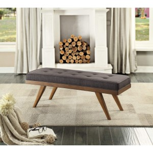 Bingsley Fabric Bench by Homelegance