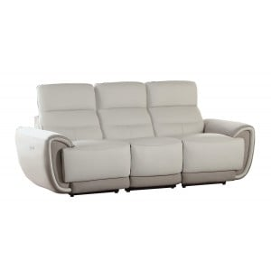 Valda Leather/Fabric Sofa by Homelegance