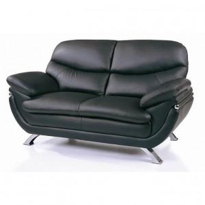 Jonus Living Room Set, Black by Beverly Hills Furniture