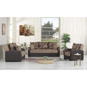 Mobimax Living Room Set, Brown by Casamode