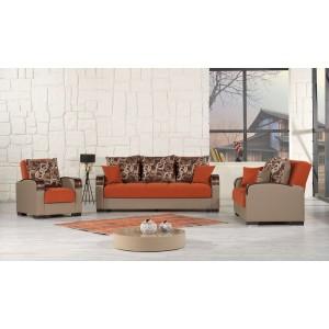 Mobimax Living Room Set, Orange by Casamode