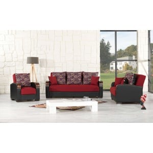 Mobimax Living Room Set, Red by Casamode