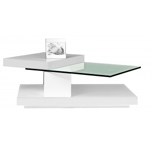 Swing Coffee Table, White by Beverly Hills Furnitue