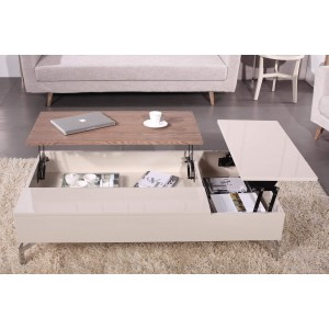 Tetris Coffee Table, Beige by Beverly Hills Furnitue
