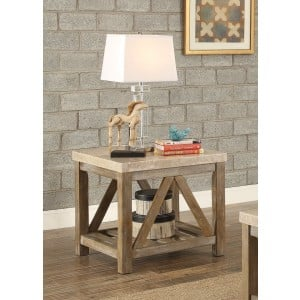 Ridley Marble End Table by Homelegance