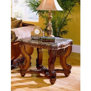 Tarantula Marble End Table by Homelegance