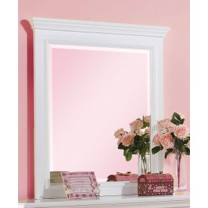 Lacey Youth Mirror, White by ACME