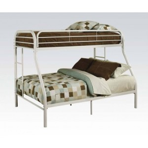Tritan Full/Twin Size Bunk Bed, Silver by ACME