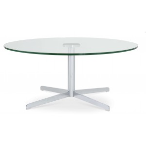 Diana Coffee Table, Chrome, Clear Glass by SohoConcept Furniture