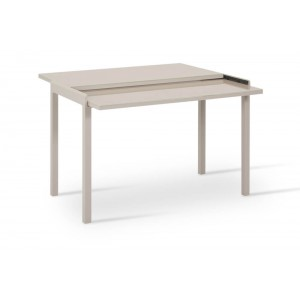 Modern Desk & Dining Table Extendable, Champagne by SohoConcept Furniture