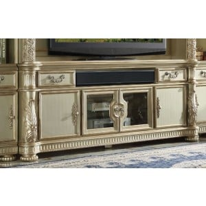 Vendome II TV Stand, Gold Patina by ACME