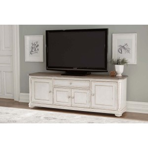 Willowick Wood TV Stand by Homelegance