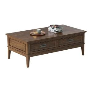 Frazier Park Wood Veneer Coffee Table by Homelegance