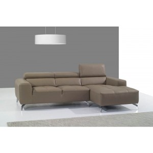 A978B Italian Leather Sectional, Right Arm Chaise Facing by J&M Furniture