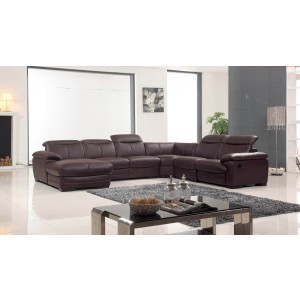 2146 Leather/Eco-Leather Reclining Sectional by ESF Furniture