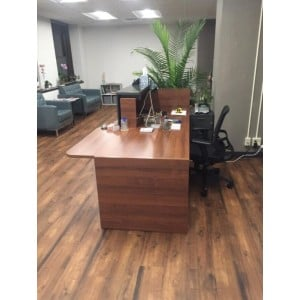 Tera Straight Reception Desk w/Counter Top + w/Light Panel
