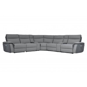Maroni Fabric Power Reclining Sectional by Homelegance