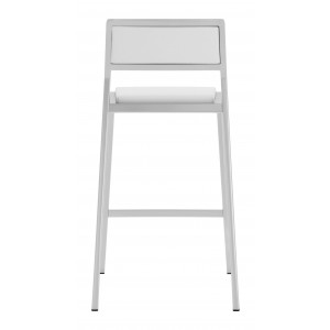 Dolemite Counter Chair, White by Zuo Modern