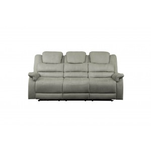 Shola Fabric Reclining Sofa by Homelegance
