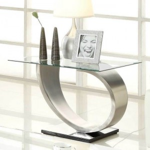 Silvera Glass End Table by Homelegance