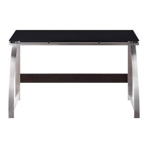 Tioga Stainless Steel Writing Desk by Homelegance